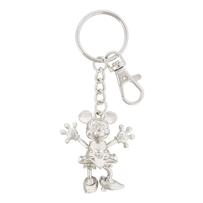 Disney Keychain - Silver-tone Articulated MINNIE
