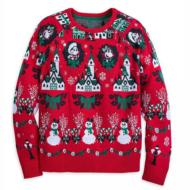 Disney Christmas MICKEY /& MINNIE MOUSE HOLIDAY PULLOVER SWEATER