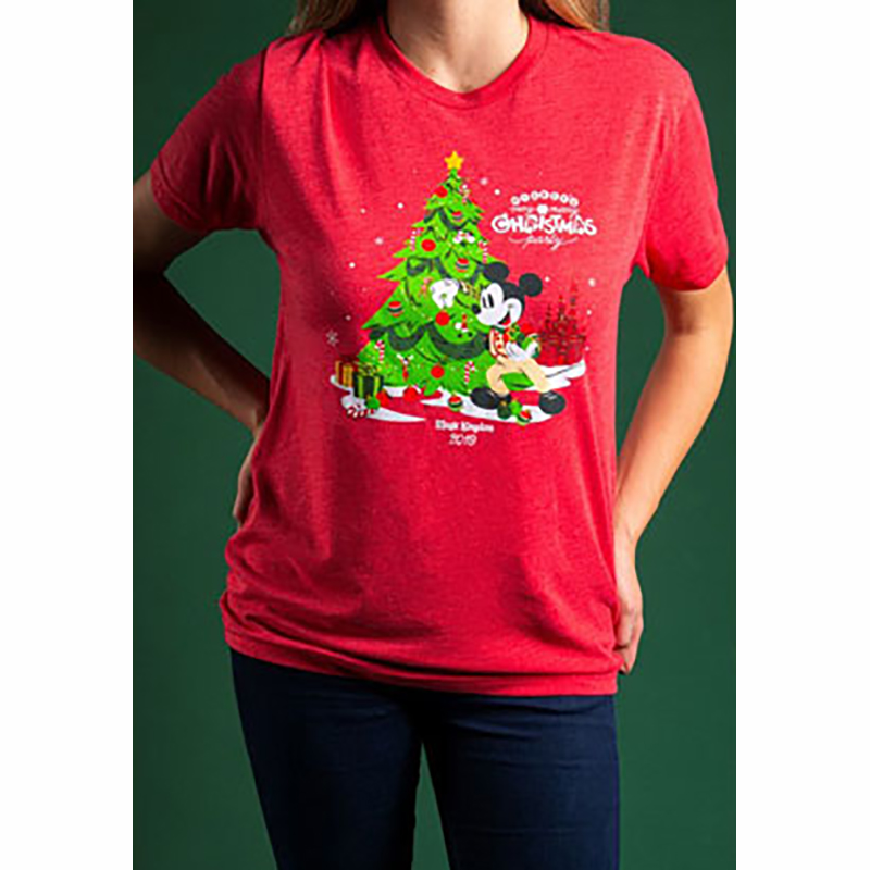 Disney Adult Shirt - Mickey Mouse - Mickey's Very Merry Christmas Party Logo
