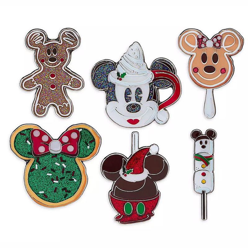 Disney Pin Set - Disney Parks Holiday Foods