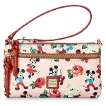 Disney Dooney & Bourke - Mickey & Minnie Mouse Floral - Pouch Purse