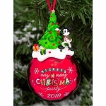 Disney Ball Ornament - Mickey's Very Merry Christmas Party 2019
