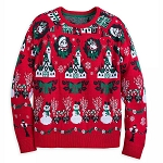 Disney Women's Light Up Sweater - Mickey Mouse Holiday - Red