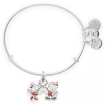 Disney Alex & Ani Bracelet - Mickey & Minnie Holiday - Candy Cane Heart