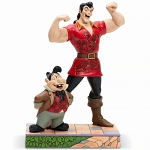 Disney Traditions Jim Shore Figure - Muscle-Bound Menace - Gaston and Lefou