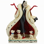 Disney Traditions Jim Shore Figure - The Cute and the Cruel - Cruella De Vil