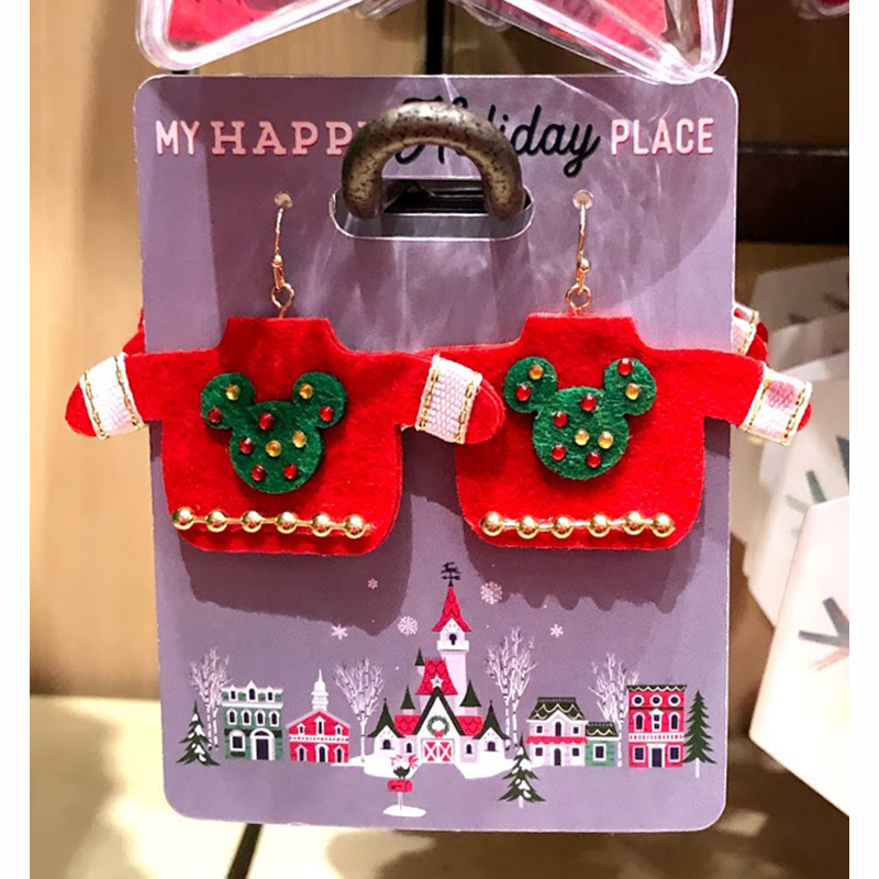 Disney Earrings - Mickey Mouse Holiday Sweater