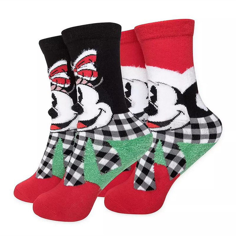 Disney Youth Socks Gift Box Set - Holiday Mickey & Minnie Mouse - Delivering Some Holiday Cheer