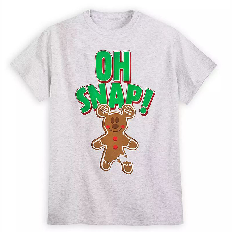 Disney Mens Shirt - Mickey Mouse Gingerbread Cookie