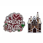 Disney Pin Set - Disney Parks Holiday Treats