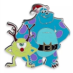 Disney Pin - Sulley & Mike Wazowski Holiday