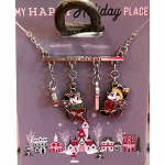 Disney Necklace - Mickey & Minnie Happy Holidays