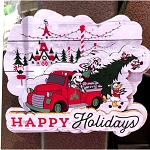 Disney Magnet - Mickey & Friends Christmas Tree Farm - Yuletide Farmhouse