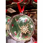 Disney Ornament w/ Necklace - Mickey Icon - Snowflake