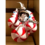Disney Keychain Keyring - Mickey Icon Peppermint Candy