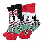 Disney Youth Socks Gift Box - Holiday Mickey & Minnie Mouse - Delivering Some Holiday Cheer