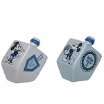 Disney Salt & Pepper Shaker Set - Mickey and Minnie Mouse Chanukah Dreidel