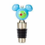 Disney Bottle Stopper - Mickey Mouse Icon Holiday - Retro - Blue