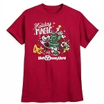 Disney Adult Shirt - Mickey Mouse and Friends Holiday Magic