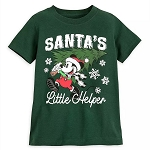 Disney Toddler Shirt - Santa's Little Helper - Mickey Mouse Scratch & Sniff Holiday