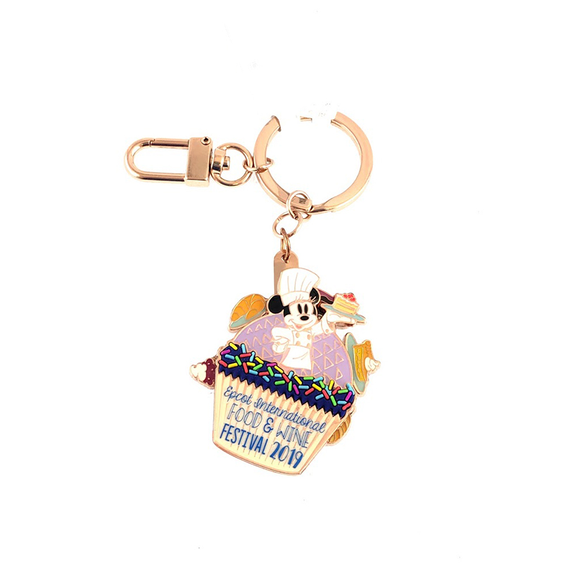 Disney Keychain Keyring - Epcot Food & Wine Festival - Minnie Mouse