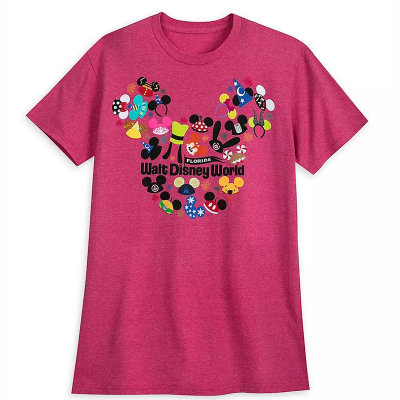 Disney Women's Shirt - Mickey Ear Hat Collage