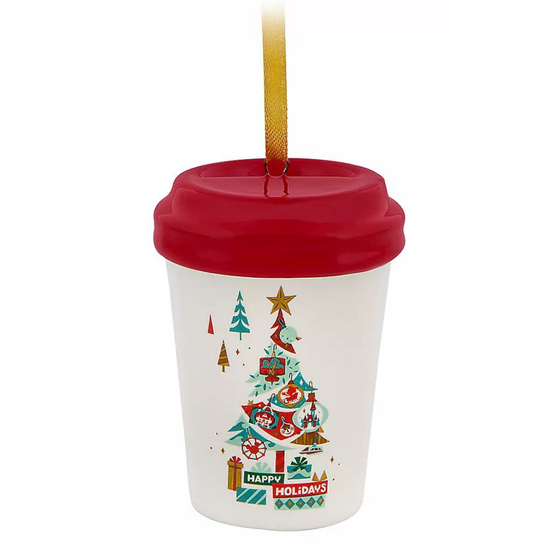 Disney Holiday Ornament - Disney Parks Happy Holidays Starbucks Ceramic Cup