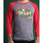 Disney Adult Shirt - Mickey's Very Merry Christmas Party - Raglan