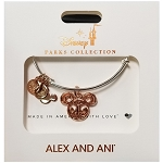 Disney Alex & Ani Bracelet - Rose Gold Filigree Mickey Ears Icon