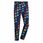Disney Women's Leggings - Fantasyland Castle - Rainbow