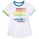 Disney Women's Shirt - Fantasyland Castle - Rainbow Ringer T-Shirt