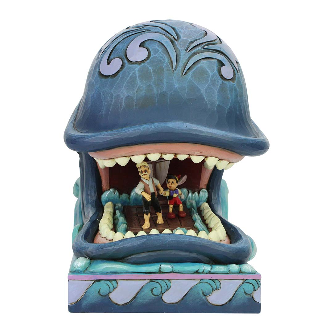 Disney Traditions by Jim Shore Figure - Monstro with Gepetto and Pinocchio