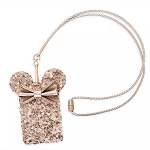 Disney Loungefly Lanyard and Pouch - Minnie Mouse - Briar Rose Gold