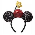 Disney Minnie Ear Headband - Minnie Mouse with Flower Pot Hat - Sequined