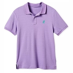 Disney Men's Shirt - Mickey Mouse - Pima Cotton Polo - Purple