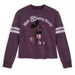 Disney Women's Pullover Shirt - Mickey Mouse Football Jersey - Purple