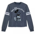 Disney Women's Pullover Shirt - Mickey Mouse Football Jersey - Blue
