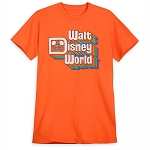 Disney Adult Shirt - Walt Disney World - Retro Orange