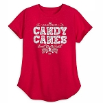 Disney Women's Shirt - Main Street Candy Canes