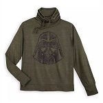 Disney Women's Pullover Shirt - Darth Vader - Cowl Neck