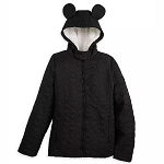 Disney Women's Fleece Lined Quilted Jacket - Mickey Mouse