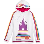 Disney Women's Pullover Hoodie - Walt Disney World - Retro Stripe