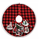 Disney Tree Skirt - Mickey & Minnie Mouse Holiday Plaid