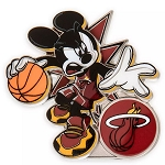 Disney Pin - Mickey Mouse NBA Experience Pin – Miami Heat