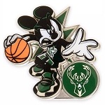 Disney Pin - Mickey Mouse NBA Experience Pin – Milwaukee Bucks