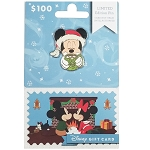 Disney Collectible Gift Card with Pin - Yuletide Christmas Series - Mickey Mouse