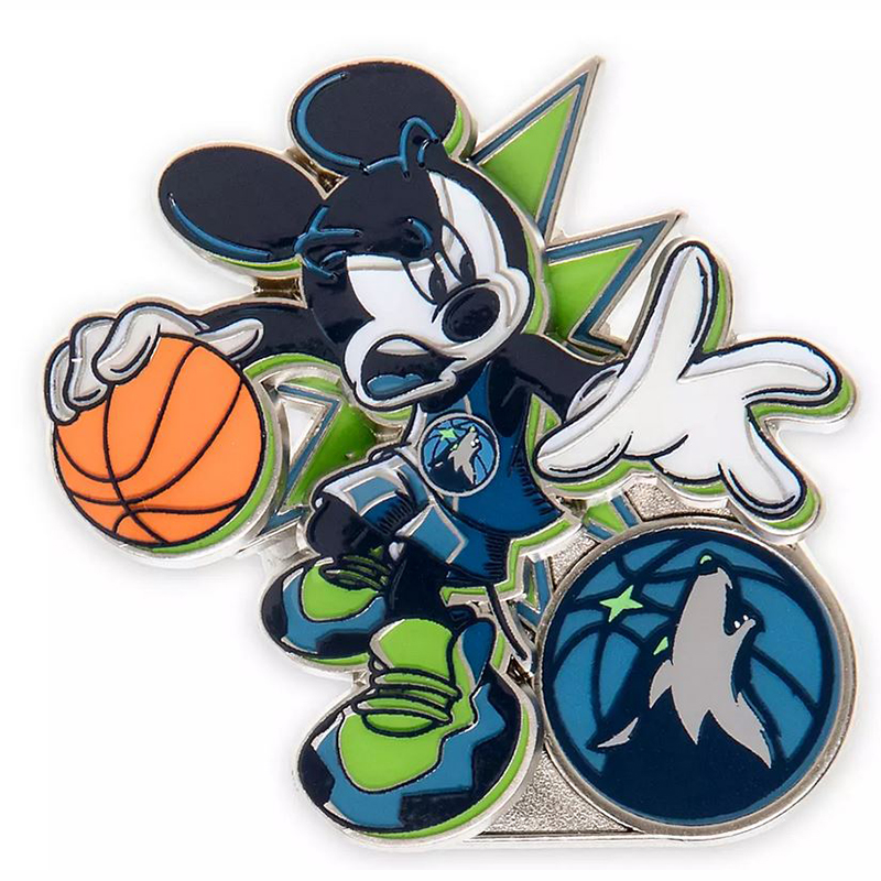 Disney Pin - Mickey Mouse NBA Experience Pin – Minnesota Timberwolves
