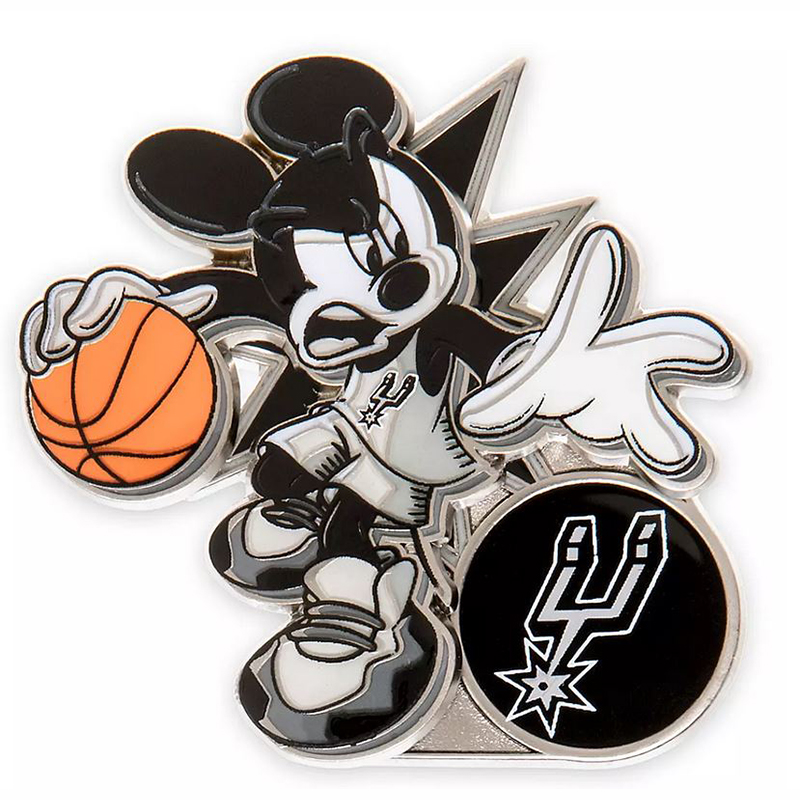 Disney Pin - Mickey Mouse NBA Experience Pin – San Antonio Spurs