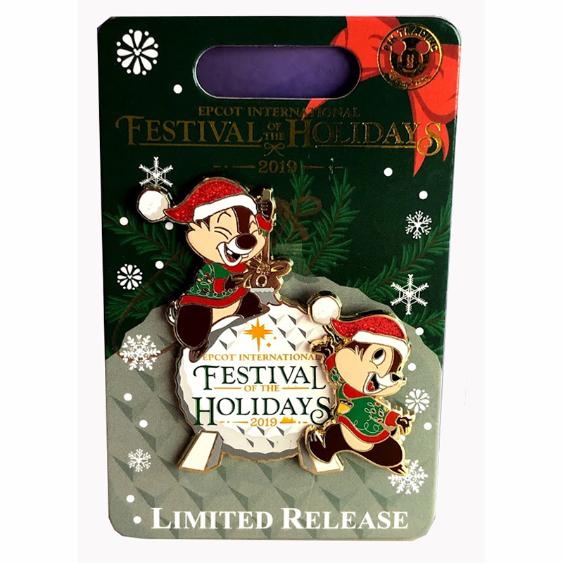 Disney Pin - Chip & Dale Epcot International Festival of the Holidays 2019