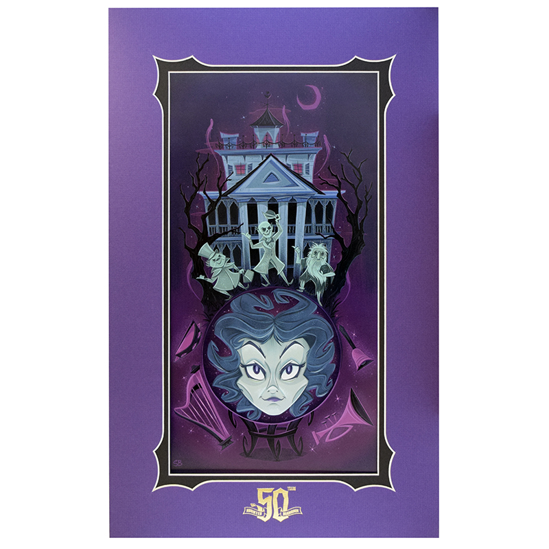 Disney Deluxe Artist Print - Medium of the Mansion - Stephanie Buscema - 50th Anniversary Edition